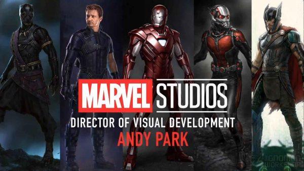 آموزش طراحی کاراکتر اندی پارک - ورکشاپ طراحی Andy park